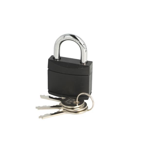 Basis hængelås med 3 nøgler