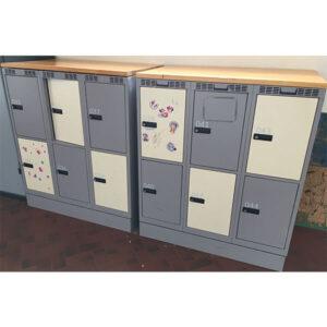 Garderobebokse med 6 rum