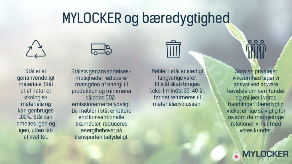 MYLOCKER og bæredygtighed stål